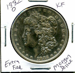 1882 O Xf Morgan Dollar 100 Cent Extra Fine 90 Nice Old Silver Us1 Coin 949