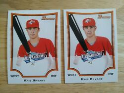 Kris Bryant Lot Of 2 2009 Bowman Aflac All American Kb2 Rookie Cards Chicago