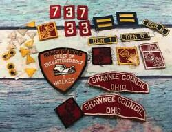 Lot Of 34 Boy Cub Scout Patches And Pins Badges Most Vintage See Pic B9