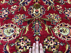 10x14 Red Vintage Rug Hand-knotted Wool Antique Oriental Woven Handmade Carpet