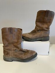 Menandrsquos Justin Work Boots Conductor Soft Toe Size 9.5d Style 4760