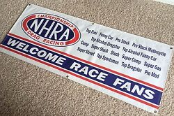 Nhra Garage Banner Sign Large 2and039x5and039