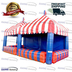 23x11.5ft Inflatable Snack / Food / Products Booth Tent With Air Blower