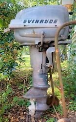 Antique Evinrude Super Fastwin Outboard Boat Motor 1953-54. 15hp.
