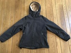 Cornerstone Aspen Charcoal Hooded Winter Fleece Jacket With Diver Patch Small