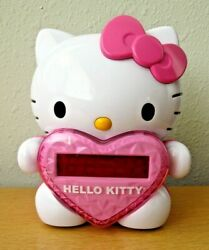 2012 Hello Kitty AM FM Projection Alarm Clock Radio 6.5quot; Works Great