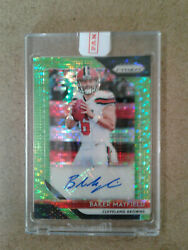 2018 Panini Prizm Baker Mayfield Neon Green Pulsar Rookie Auto-💥dawg Pound💥📈