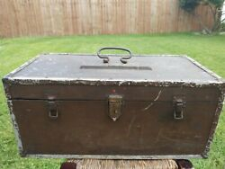 Vintage Gm Fisher Body Wood Carriage Box / Tool Box / Tackle Box.