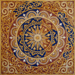 Go018 47.24andtimes47.24 Pattern Square Mosaic Flooring Tile