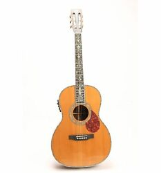 Solid Red Spruce Top Electric Acoustic Guitar Fishman 101 Pickups Abalone Inlay