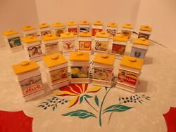 Franklin Mint The Country Store Spice Jar Collection Set Of 22 Collectibles