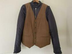 Maison Margiela 10 2way Down Jacket Vest Brown Menand039s 46 Vintage From Japan Used