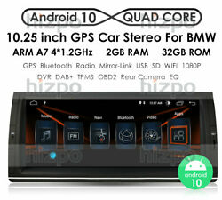 For Bmw X5 E53 Ips 10.25 Android 10 4-core 2+32gb Car Stereo Radio Gps Dsp Rca