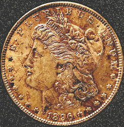 1896-s Morgan Silver Dollar-looks Uncirculated-full Breast Feathers Wow