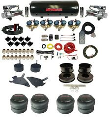 Complete Air Ride Suspension W/8 Gallon Tank 3/8 Valves For 82-88 Chevy G-body