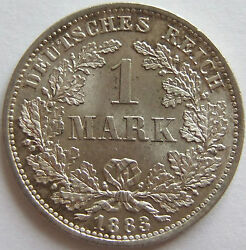 1 Mark 1883 D In Uncirculated Rare