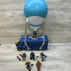 Fortnite Battle Bus Deluxe - Inflatable Balloon Lights And Sounds W/ 5 Figures