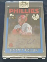 2021 Topps Clearly Authentic Scott Rolen 25/25 On Card Encased Auto