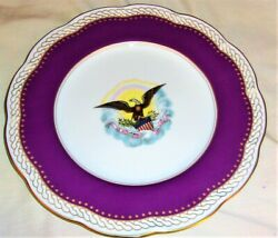 Outstanding Haviland France Uss Abraham Lincoln White House Hand Painted Plate