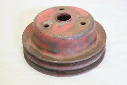 Original 1960and039s 1970and039s Chevrolet Gm Sbc Bbc Double Groove Crankshaft Pulley