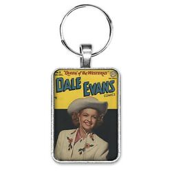 Dale Evans Comics 2 Cover Key Ring Or Necklace Roy Rogers Western Comic Jewelry