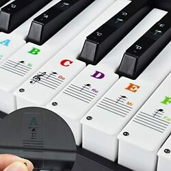 Piano Keyboard Stickers Colored Removable for Beginners 37 49 54 61 76 88 Keys