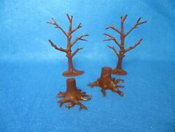 Marx Reissue Dead Trees, And Stumps 54mm Many Era's For Toy Soldiers