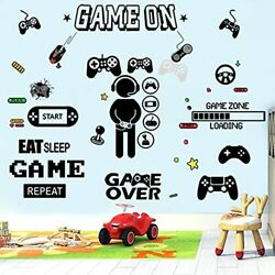 Wall Decals Gamer Wall Stickers Kids Room Decor Controller Wall Decal Vinyl W...