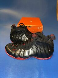 New Nike Air Foamposite One Cough Drop Size 10 Black/university Red 314996 002