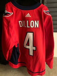 Washington Capitals Brenden Dillon Game Issued Mic Jersey Nhl