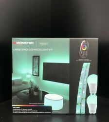 Monster Illuminessence Large Space Led Mood Light Kit With Rf Remote Control
