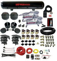 Complete Fastbag 3/8 Air Ride Suspension Kit Airbags Chrome 88-98 Chevy C15