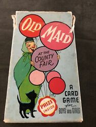 Vintage Arrco Playing Cards Childrens Old Maid At The County Fair C