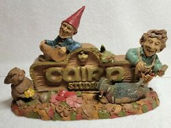 Tom Clark And Tim Wolfe Signed Gnome 1993 Cairn Studio Sign Item 2042 Edition 90