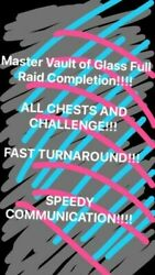 Master Vault Of Glass Recovery Chests And Challenge Xbox Pc+ps Via Crossave