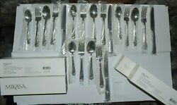 Mikasa Flatware 18/10 Stainless Steel Lots Of 4 Sets 5-pc/set Swirl Frost New