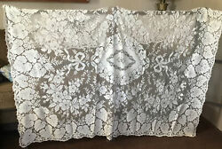 Vintage Quaker Lace Dinner Tablecloth 62 X 73 Tagged 5090