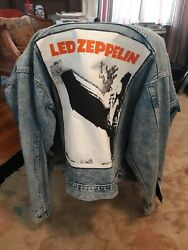 Vintage Jacket With Huge Led Zeppelin Back Patch. Really Nice Condition