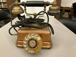 Antique Telephone - Early Dial/desk Style With Ring Tone Adjustment