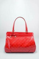 Authentic Red Leather Mini Gg Marmont