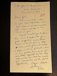 1967 Handwritten Signed Letter Ronald Reagan To Doctor In Beverly Hills