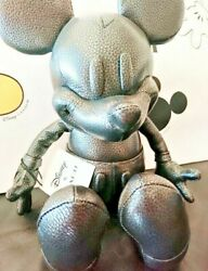 Coach×disney Mickey Mouse Leather Plush Toys Doll Stuffed Toy Japan Very Rare