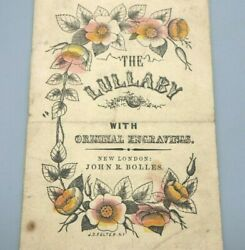 The Lullaby With Original Engravings 1856 John R. Bolles Antique Childrenand039s Book