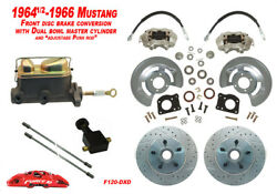 1964-66 Ford Mustang Front Drum To Disc Brake Conv Kit W/dual Master Xd Rotors