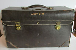 Vintage Wwii Jeppesen And Co. Jepco Army 2403 Military Flight Pilot Case Bag 55-1