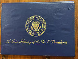 A Coin History Of The U.s. Presidents Set Of 41 Presidential Medals Bio Reverse