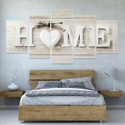 5PCS Concise Wall Paintings Home Letter Printed Fashion Photo Art Wedding Decor