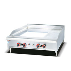 48 Commercial Countertop Gas Griddle With Manual Controls-120000 Btu