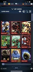 Topps Marvel Collect Lot Of 75 Digital Super Rarestopps Now Included