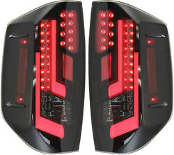 Tundra 14-16 Led Clear Tail Lamp Assembly Set Rh And Lh Included Black/smok